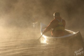 Canoe at Sunrise-Royal River, Yarmouth, Maine