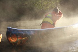 Canoe In the Morning Light-Royal River, Yarmouth, Maine