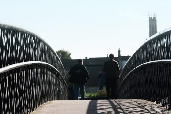 Crossing Footbridge Into Carlow-River Barrow, Ireland