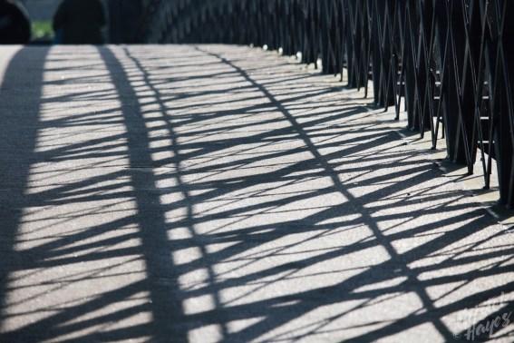 Shadows Along Foot Bridge, Carlow-River Barrow, Ireland