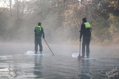 SUPing Into the Mist-Royal River, Yarmouth Maine