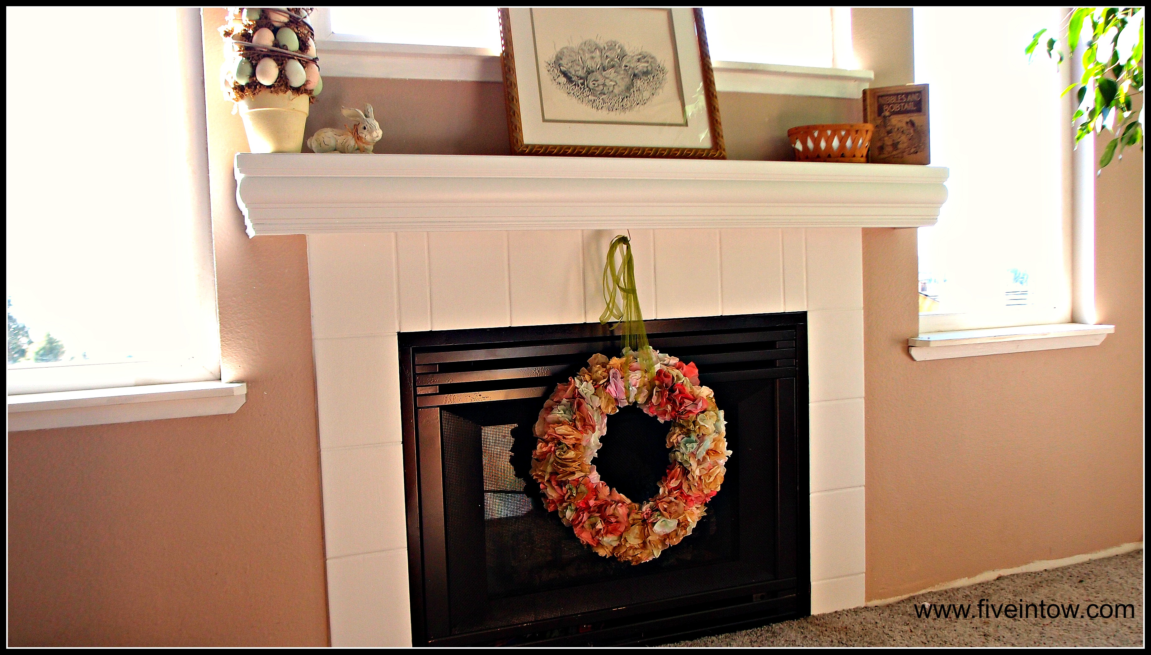 Painting tile and other ways to save an ugly fireplace kristen painting tile baanklon Images
