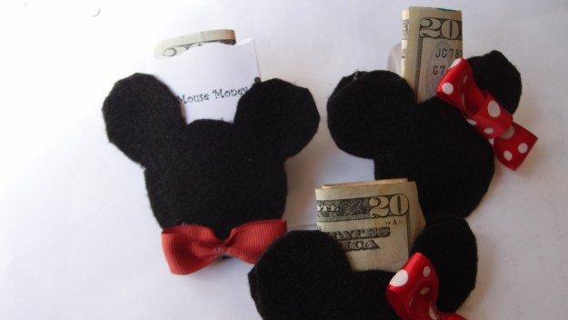 DIY Mickey Mouse Money holder