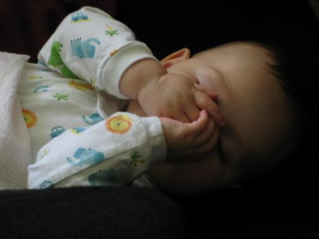 Jonathan sleeping