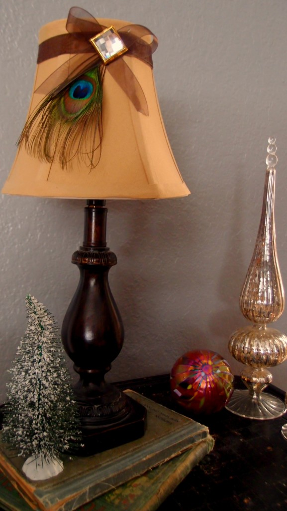 Peacock lamp shade OFF