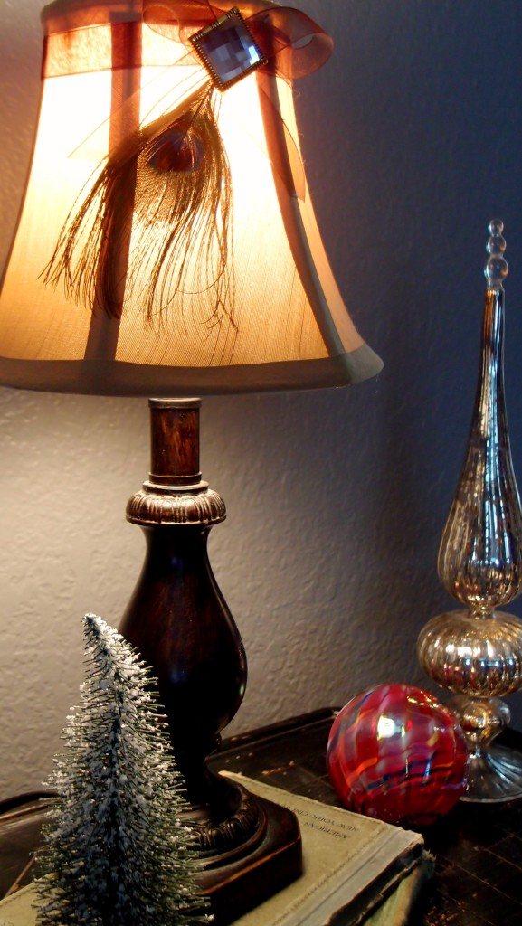 Peacock Lamp Shade ON