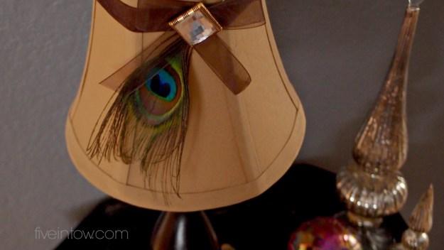 Peacock lamp shade