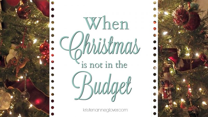 Christmas not in budget