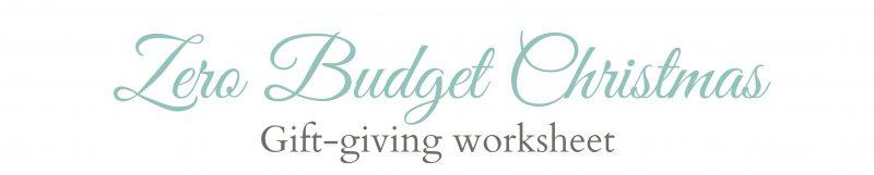 Gift Giving worksheet