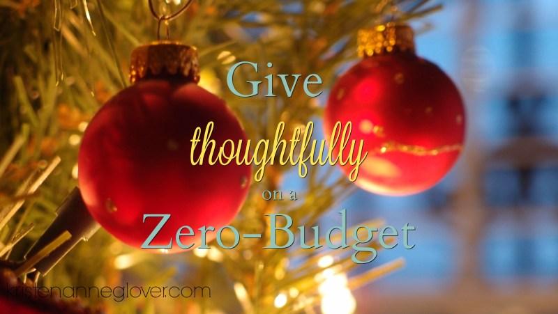 Christmas on a zero-budget