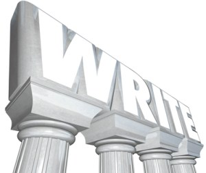 Write Word Marble Columns Writing Communication