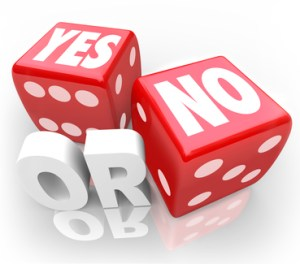 Yes or No Two Dice Rolling to Decide Accept or Reject