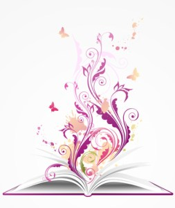 background with open  book