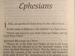 A 61 Day Bible Study Quiet Time Plan for going through Ephesians