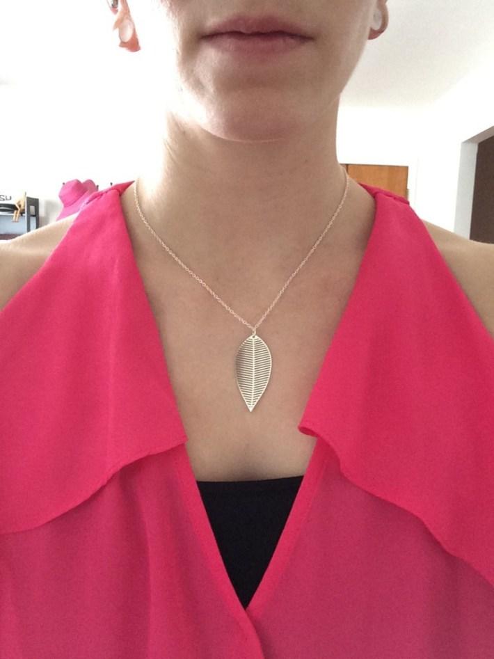 Baxter Geo Leaf Necklace