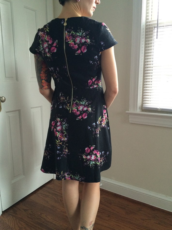 Yumi Trey Floral Dress (back)