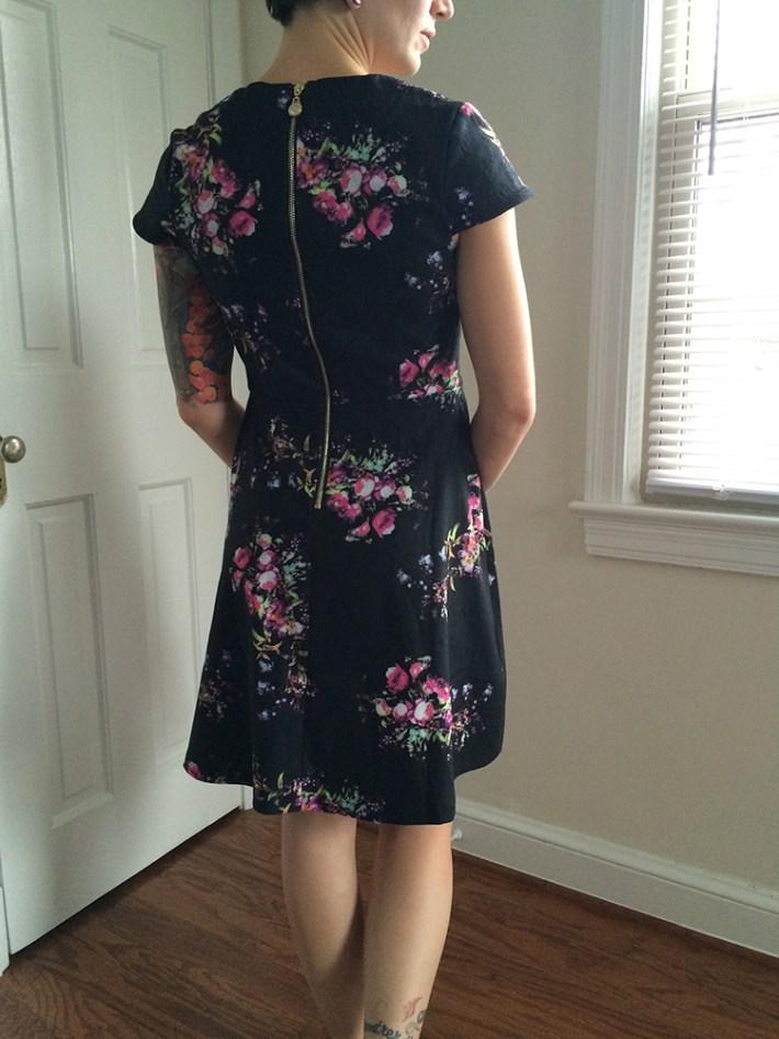 Yumi Trey Floral Dress (back)