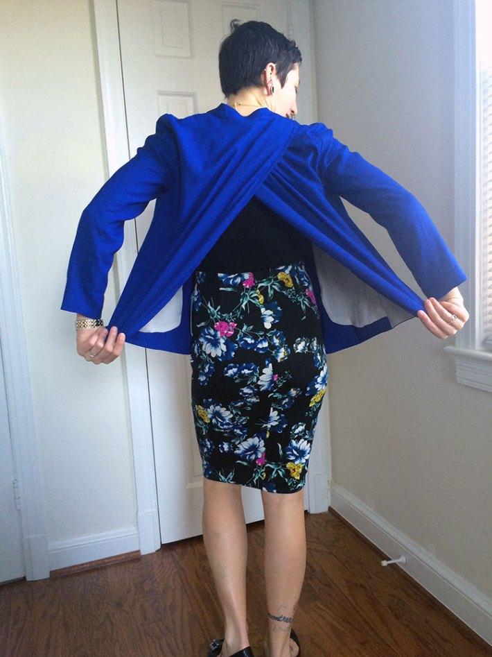 Romaine Split Back Blazer (back)