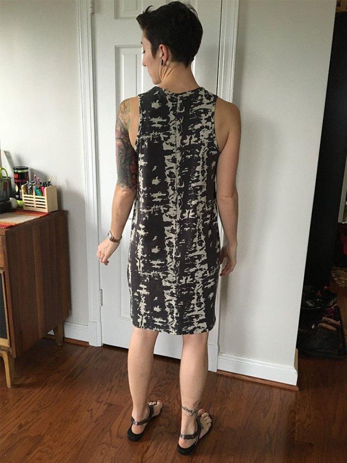 RD Style Matt T-Shirt Knit Dress (back)