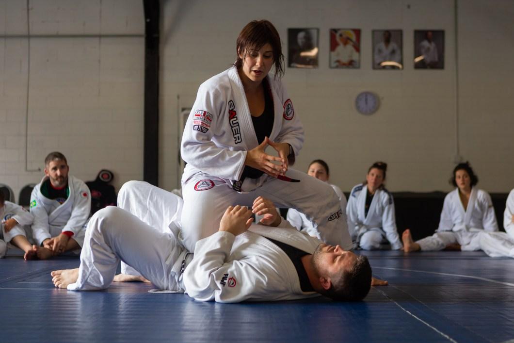 Kristen DeBruycker Teaching BJJ