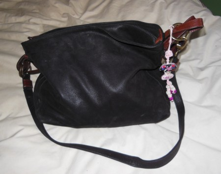 My purse, miraculously black again