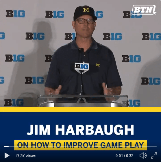 Jim Harbaugh on CFB Playoff Format and Ohio State