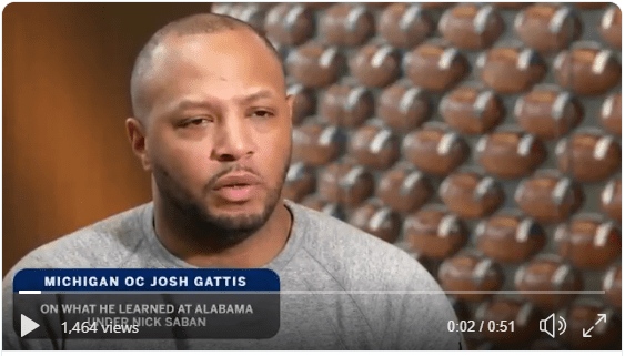 Josh Gattis on What He Learned in Alabama Under Nick Saban (Twitter)
