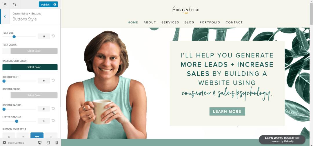 Kristen Leigh   Web Design Studio   How to Quickly Build a Divi Website   Button Styles