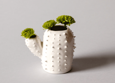 small cactus flower vase by Olis Cupboard on etsy