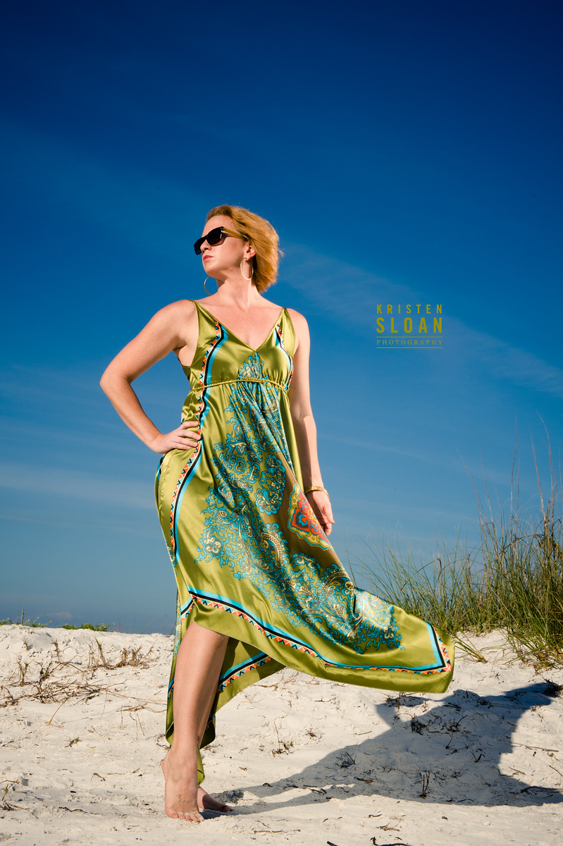 White Sand Blue Skies And Paisley Florida Beach Model
