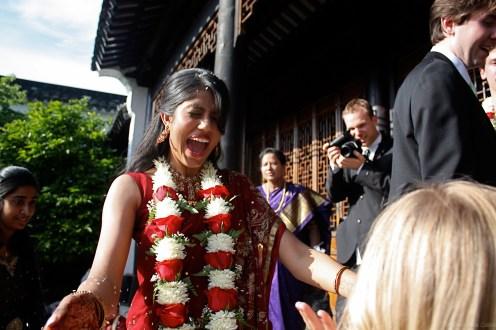 My sister-in-law, Prathima, following a Hindu-inspired wedding ceremony