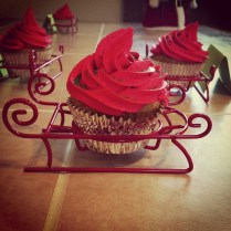 Picture of cupcakes in sled holders