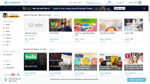 make money online with swagbucks 1