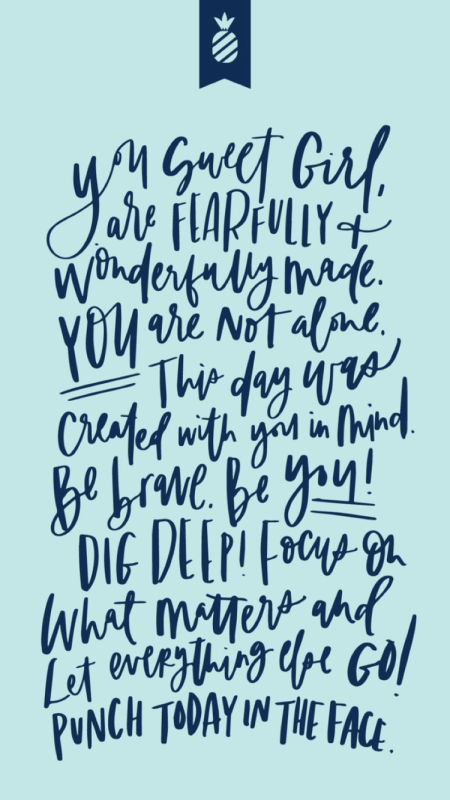 emily ley inspirational blue quote wallpaper phone background kristen shane