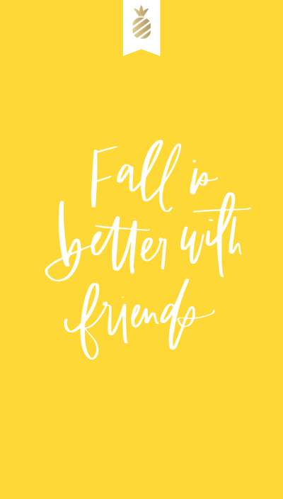 Fall with Friends Emily Ley iPhone Wallpaper