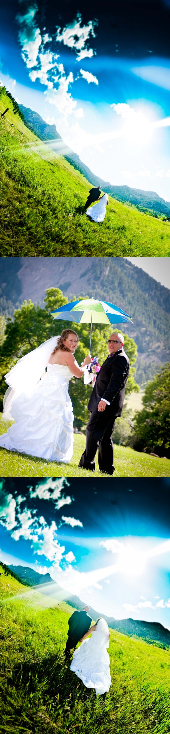 chautauqua boulder bride and groom