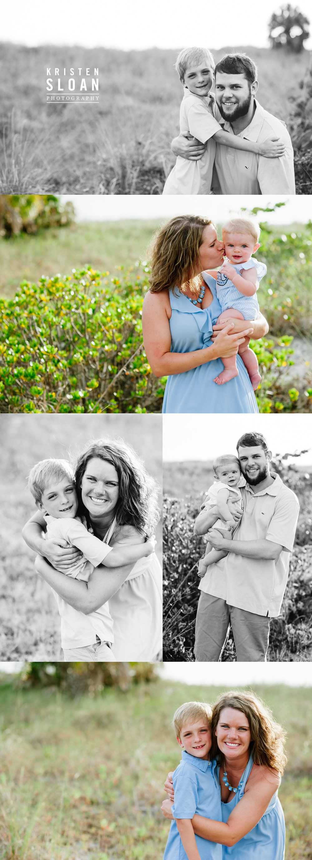 Treasure Island Beach Club Family Sunset Portraits with Vineyard Vines by Kristen Sloan Photography