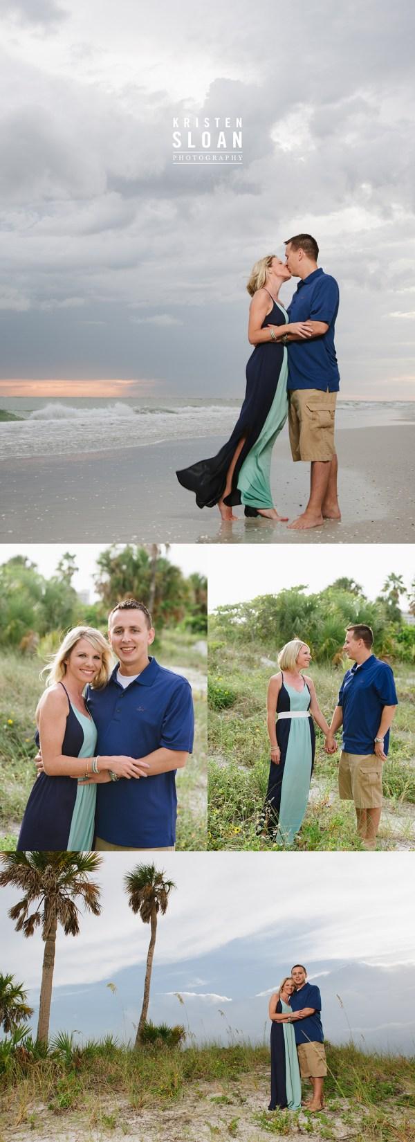 St Pete Beach Treasure Island Family Beach Photos at Sunset | Treasure Island Wedding Portrait Photographer | St Pete Beach Wedding Portrait Photographer Kristen Sloan