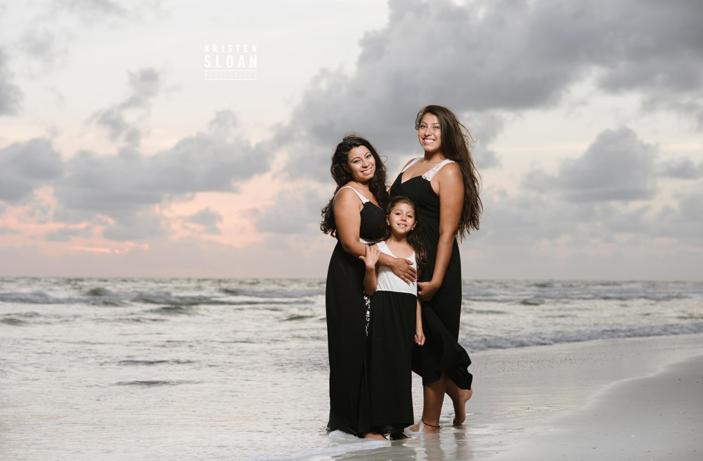 Tradewinds St Pete Beach Sunset Family Portraits by Kristen Sloan Photography
