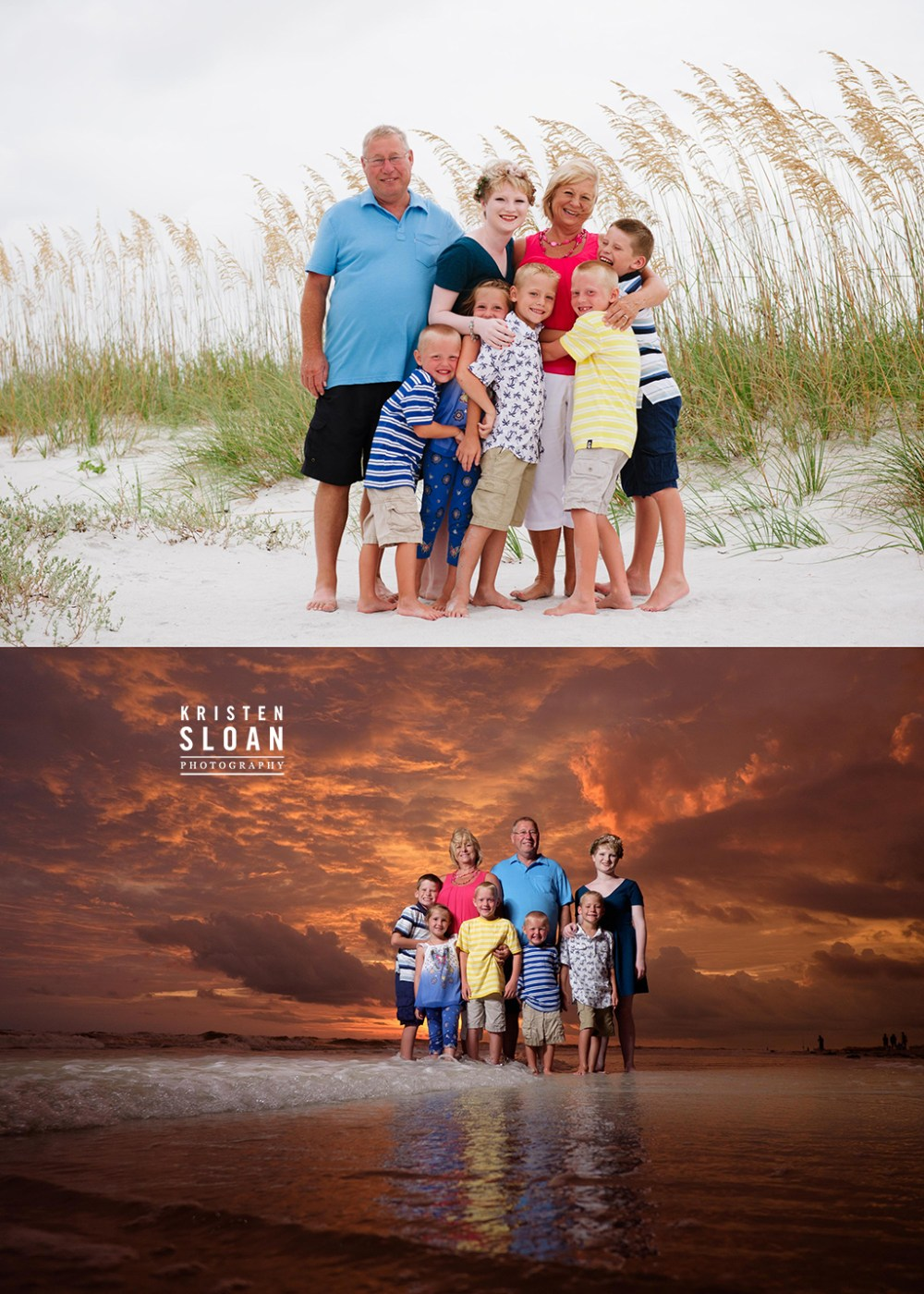 Sunset Vistas Treasure Island Family Portrait Photos by Kristen Sloan Photography