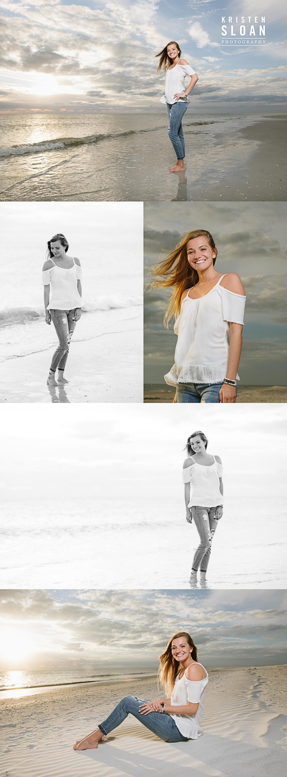 St Pete FL High School Senior Photos at Treasure Island Beach | Saint Petersburg FL Senior Photos Photographer | St Pete Beach Photographer | What to Wear to Your Beach Photos