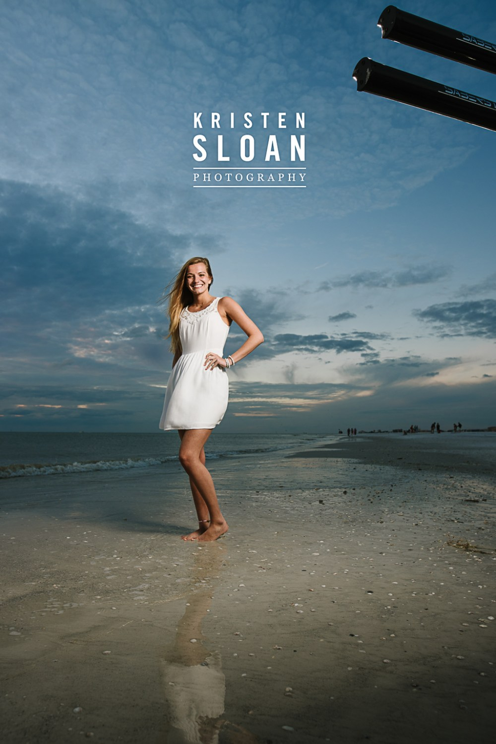 St Pete FL High School Senior Photos at Treasure Island Beach | Saint Petersburg FL Senior Photos Photographer | St Pete Beach Photographer | SaberStrip