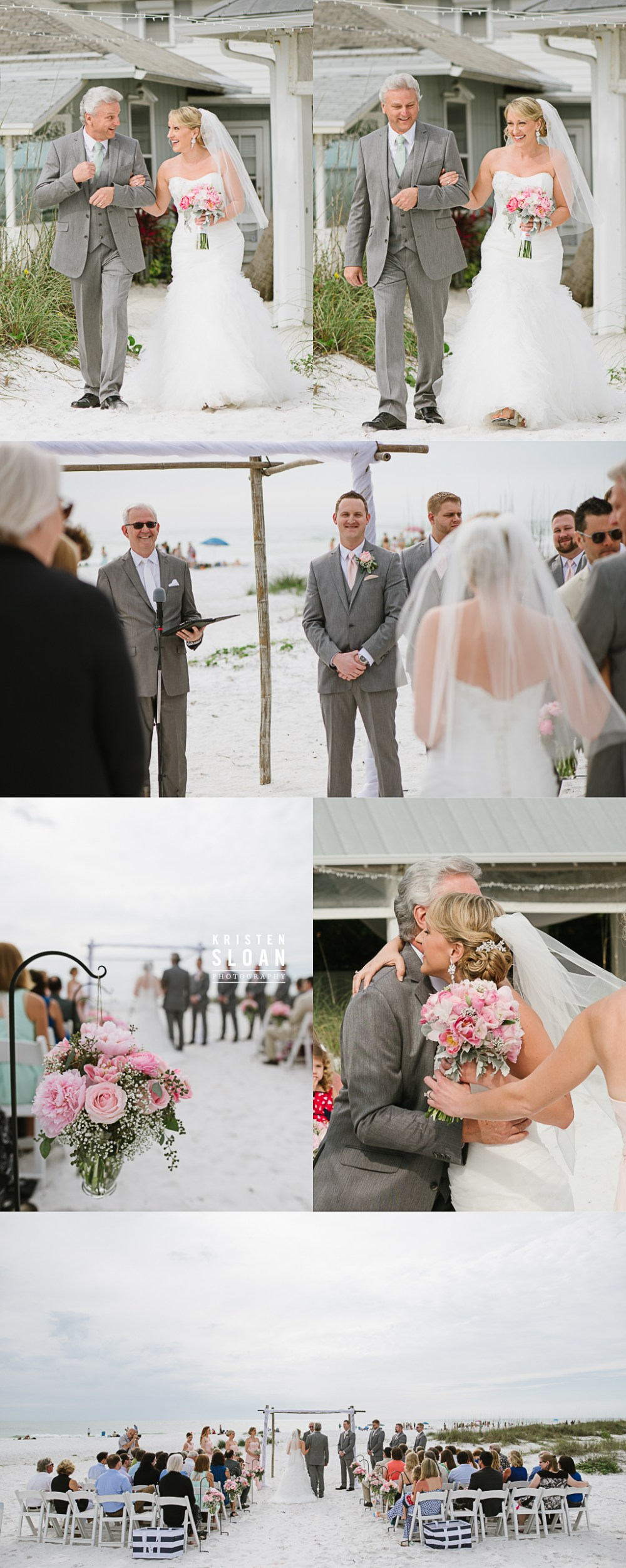 Anna Maria Island Florida Beach Wedding Photographer Kristen Sloan, Sandbar Restaurant Wedding Anna Maria Island, Beach Wedding Ceremony