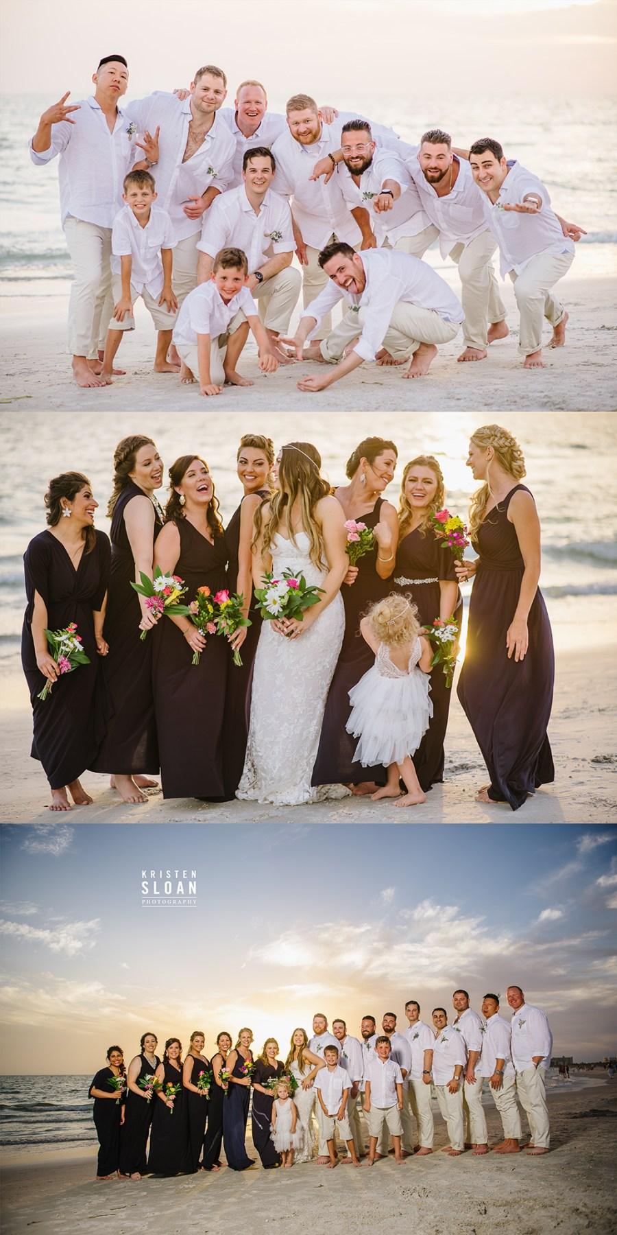 Sirata St Pete Beach Wedding Party Photos
