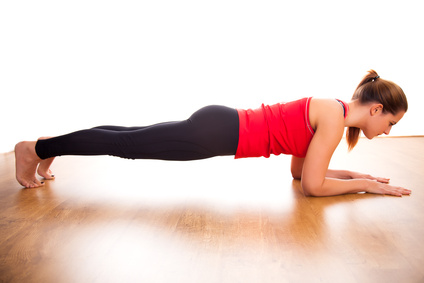 plank exercise tension
