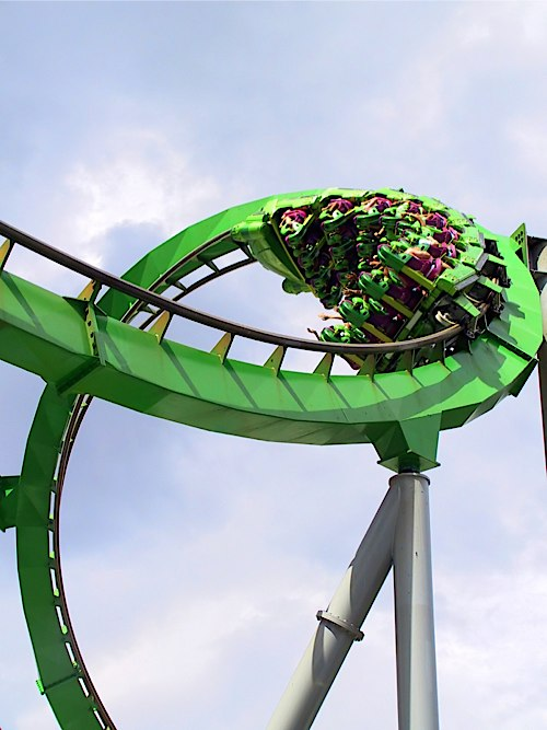 fast paced roller coaster