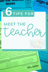6 Tips for Meet the Teacher Night