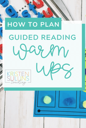 How to Plan Guided Reading Warm Ups