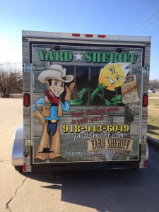 trailer vehicle wrap, yard sheriff