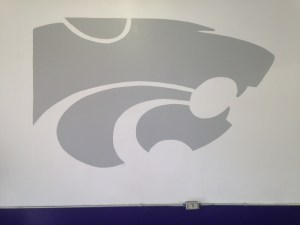 mural of KState logo